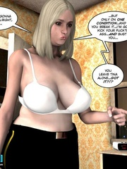 Blonde busty 3d police officer blows young - Cartoon Sex - Picture 10