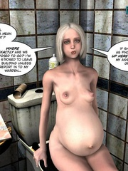 Nude pregnant blone babe and her naked - Cartoon Sex - Picture 2