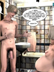 Nude pregnant blone babe and her naked - Cartoon Sex - Picture 3