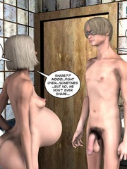 Nude pregnant blone babe and her naked - Cartoon Sex - Picture 6