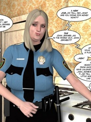 Horny blone 3d pollice officer rides a - Cartoon Sex - Picture 2
