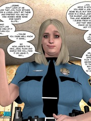 Horny blone 3d pollice officer rides a - Cartoon Sex - Picture 5