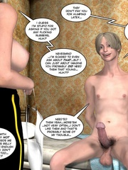 Horny blone 3d pollice officer rides a - Cartoon Sex - Picture 9