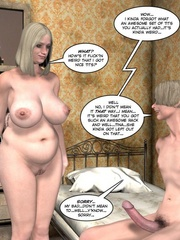 Horny blone 3d pollice officer rides a - Cartoon Sex - Picture 10