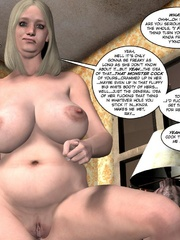 Horny blone 3d pollice officer rides a - Cartoon Sex - Picture 11