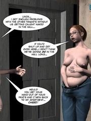 Pregant blonde 3d girl sticks a thick can in - Cartoon Sex - Picture 5