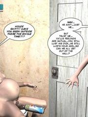 Pregant blonde 3d girl sticks a thick can in - Cartoon Sex - Picture 7