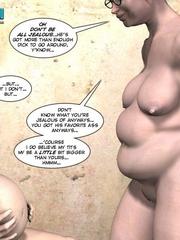 Pregant blonde 3d girl sticks a thick can in - Cartoon Sex - Picture 14