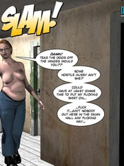 Blonge 3d preggo girl feels horny in restroom - Cartoon Sex - Picture 1
