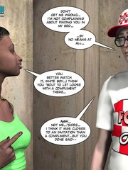 Petite ebony chick and horny white guy in hot - Cartoon Sex - Picture 6