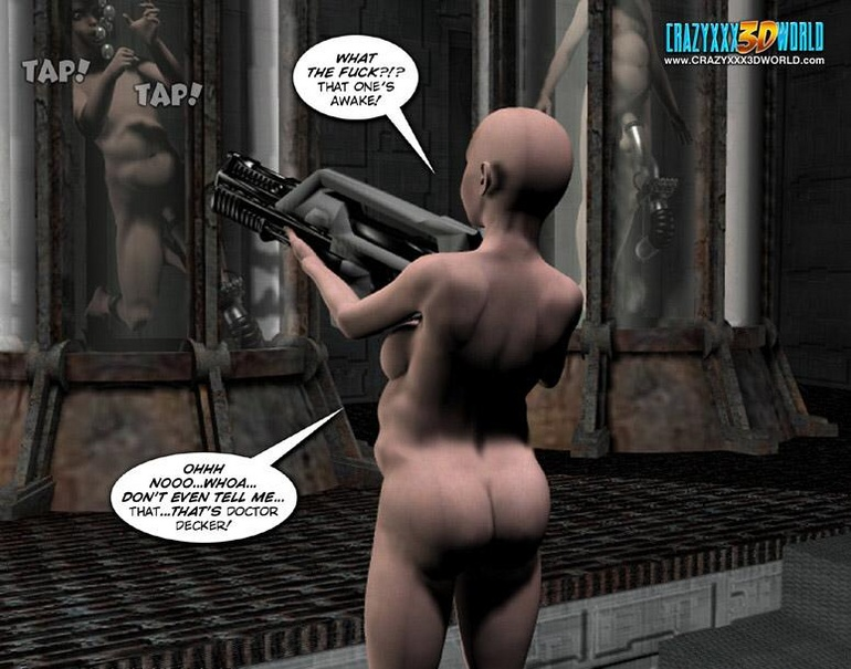 Bald chubby 3d woman with met a guy in some - Cartoon Sex - Picture 6