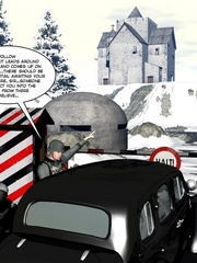 3d nazi officer interrogates beautiful - Cartoon Sex - Picture 3