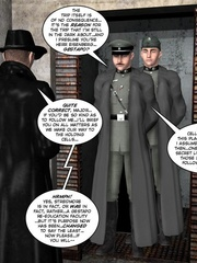3d nazi officer interrogates beautiful - Cartoon Sex - Picture 7