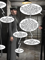 3d nazi officer interrogates beautiful - Cartoon Sex - Picture 10