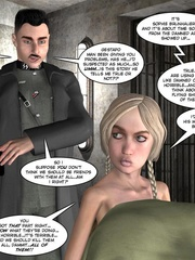 3d nazi officer interrogates beautiful - Cartoon Sex - Picture 12