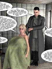 3d nazi officer interrogates beautiful - Cartoon Sex - Picture 13