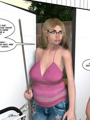 Big cocked young dude caught masturbating in - Cartoon Sex - Picture 12