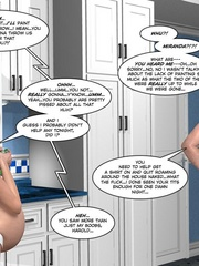 Blonde pregnant 3d girl in tight white - Cartoon Sex - Picture 7