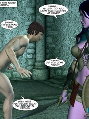 Sexy huge boobed 3d elf girl watches human - Cartoon Sex - Picture 7