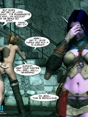 Sexy huge boobed 3d elf girl watches human - Cartoon Sex - Picture 11