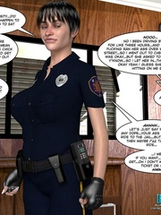 Big tits 3d police officer forced handcuffed - Cartoon Sex - Picture 1