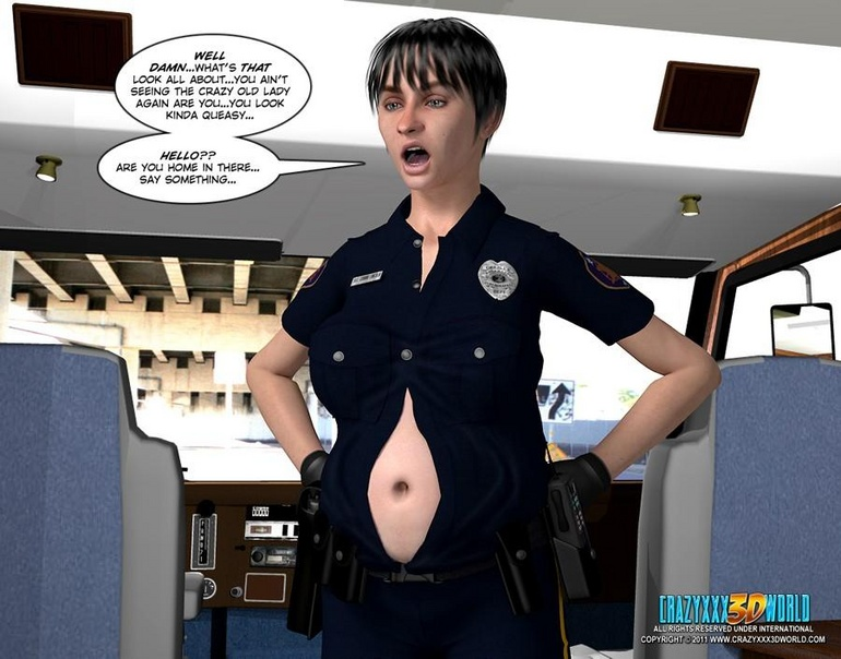 Big tits 3d police officer forced handcuffed - Cartoon Sex - Picture 5