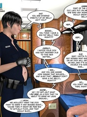 Big tits 3d police officer forced handcuffed - Cartoon Sex - Picture 6