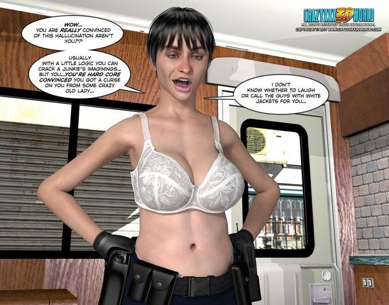 Big tits 3d police officer forced handcuffed - Cartoon Sex - Picture 7