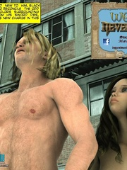 Naked knight and his 3d nude girlfriend came - Cartoon Sex - Picture 1