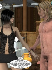 Naked knight and his 3d nude girlfriend came - Cartoon Sex - Picture 13