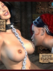 Hot big boobed bondaged shemale forced to - Cartoon Sex - Picture 1