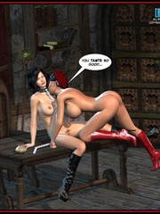 Hot big boobed bondaged shemale forced to - Cartoon Sex - Picture 2