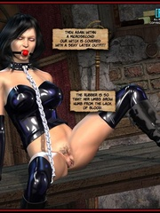 Hot big boobed bondaged shemale forced to - Cartoon Sex - Picture 4