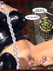 Hot big boobed bondaged shemale forced to - Cartoon Sex - Picture 5