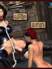 Hot big boobed bondaged shemale forced to - Cartoon Sex - Picture 7