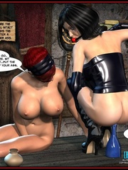 Hot big boobed bondaged shemale forced to - Cartoon Sex - Picture 8