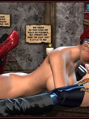Hot big boobed bondaged shemale forced to - Cartoon Sex - Picture 10