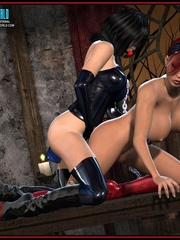Hot big boobed bondaged shemale forced to - Cartoon Sex - Picture 15