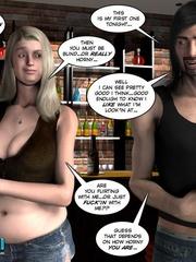 Two slutty 3d strip girls flashing their - Cartoon Sex - Picture 5