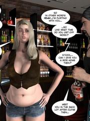 Two slutty 3d strip girls flashing their - Cartoon Sex - Picture 6