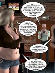 Two slutty 3d strip girls flashing their - Cartoon Sex - Picture 11