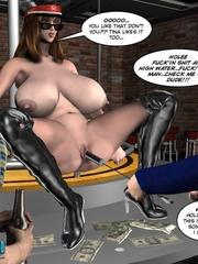 Two slutty 3d strip girls flashing their - Cartoon Sex - Picture 14