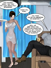 Awesome brunette 3d milf alone on the desert - Cartoon Sex - Picture 1