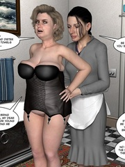 Busty 3d maid undressed in her owner cabinet - Cartoon Sex - Picture 4
