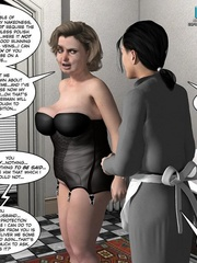 Busty 3d maid undressed in her owner cabinet - Cartoon Sex - Picture 5