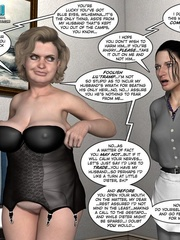 Busty 3d maid undressed in her owner cabinet - Cartoon Sex - Picture 6