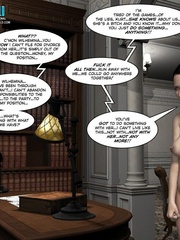 Busty 3d maid undressed in her owner cabinet - Cartoon Sex - Picture 9