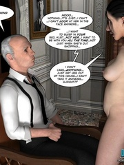 Busty 3d maid undressed in her owner cabinet - Cartoon Sex - Picture 10