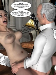 Busty 3d maid undressed in her owner cabinet - Cartoon Sex - Picture 14