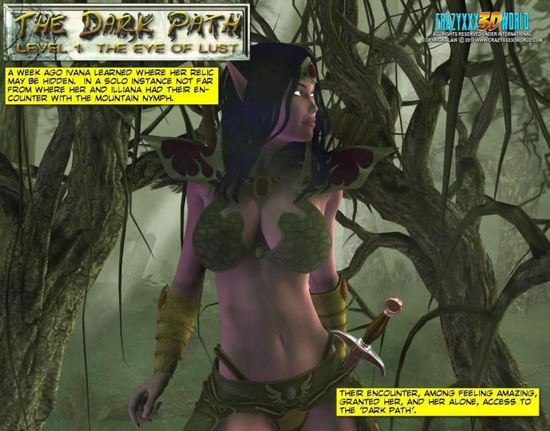 Purple 3d elf busty stunner passionately - Cartoon Sex - Picture 3